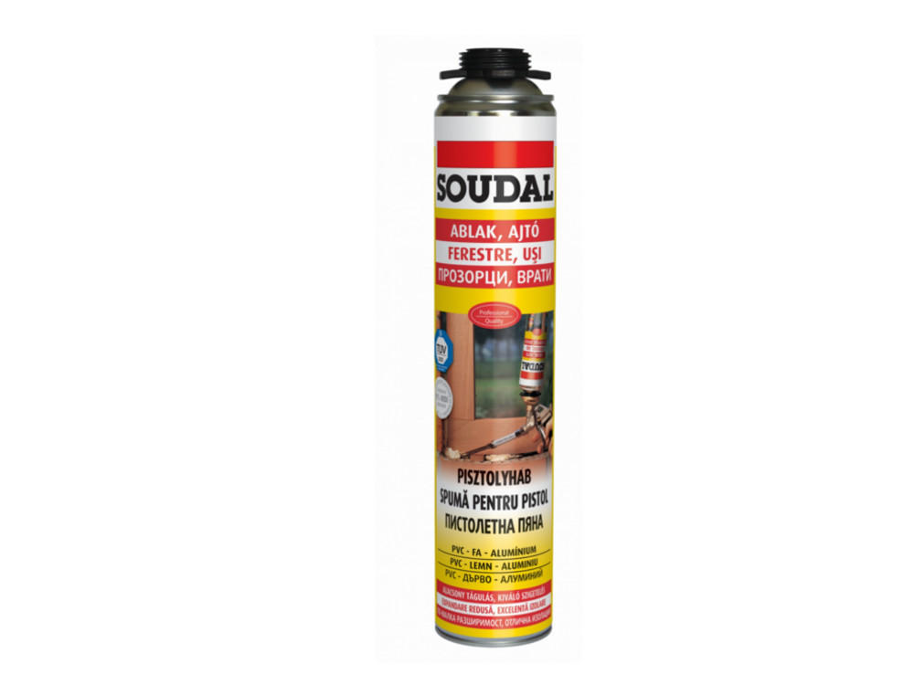 SOUDAL SPUMA PU PISTOL YELLOW 750 ML [122880]